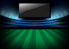 Football night  arena, Soccer night stadium and monitor vector d Royalty Free Stock Photography