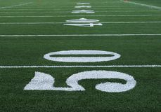 Football Numbers Fifty Royalty Free Stock Image