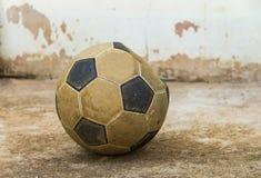 Football. On the old concrete floor.street foootball Stock Photos