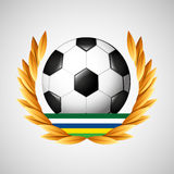 Football olympic games emblem. Vector illustration eps 10 Vector Illustration