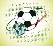 Football orbit Royalty Free Stock Photography