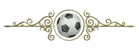 Football ornament Royalty Free Stock Images