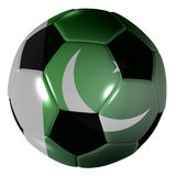 Football pakistan flag Royalty Free Stock Image