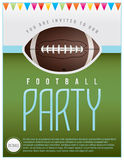 Football Party Flyer Stock Photo