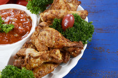 Football party food platter Royalty Free Stock Image