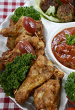 Football party food platter Stock Image