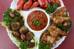 Football party food platter stock images