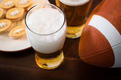 Football party food, super bowl day royalty free stock images