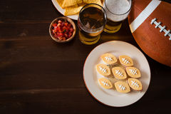 Football party food, super bowl day Royalty Free Stock Image