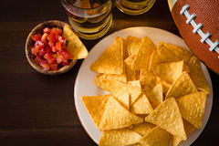 Football party food, super bowl day Stock Image