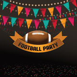 Football party invitation background Stock Photo