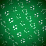 Football Pattern. This is file of EPS10 format Stock Image