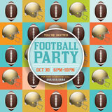 Football Pattern Party Invitation Stock Photography