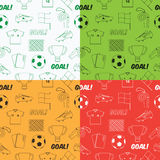 Football pattern seamless Royalty Free Stock Photography