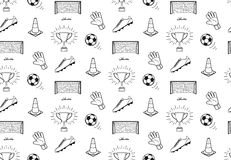 Football pattern Royalty Free Stock Photography