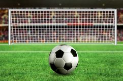 Football - penalty in the stadium Stock Photo
