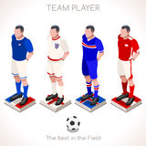 Football 03 People Isometric Stock Image