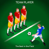 Football 02 People Isometric Stock Images