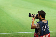 Football photographer Royalty Free Stock Photos