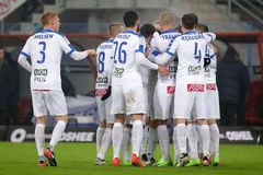 Football: Piast Gliwice - Lech Poznan Royalty Free Stock Images