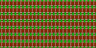 Football pigskin pattern illustration with green background Stock Photo