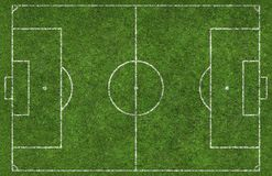 Football Pitch. Overhead shot of a football pitch Stock Image