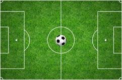 Football Pitch. Football in the middle of a grass pitch Stock Photography
