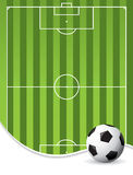 Football pitch background Royalty Free Stock Photos