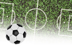 Football pitch and the ball Stock Photography