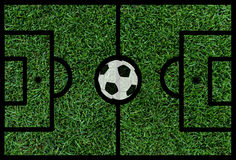 Football pitch with ball. Football soccer pitch with ball Royalty Free Stock Image
