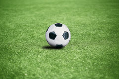 Football pitch. With the ball, sports background Stock Photo