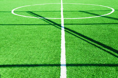 Football pitch on bright day Royalty Free Stock Photo