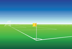 Football pitch corner flag Stock Images