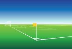 Football pitch corner flag. Illustration of  a football pitch corner flag Stock Images