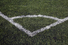Football pitch corner marking Royalty Free Stock Photo