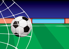 Football pitch goal net Royalty Free Stock Photography