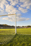 Football pitch goal post Stock Images