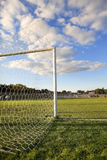 Football pitch goal posts Stock Photography