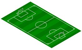 Football Pitch - Isometric View. An illustration of a football pitch in Isometric 3d view Stock Images