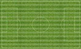 Football pitch with markings Stock Images