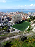 Football pitch in Marseilles, France Stock Photos