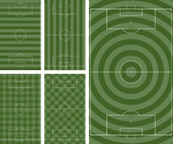 Football pitch patterns Stock Photos