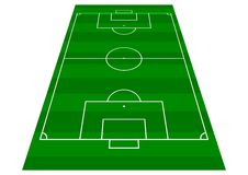 Football Pitch Perspective View royalty free stock image