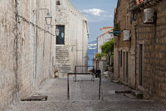 Football pitch in the street at Dubrovnik. Croatia Royalty Free Stock Photos