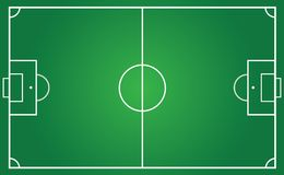 Football pitch for team plan Stock Photos
