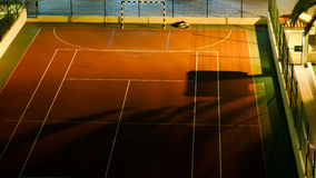 Football pitch and tennis court Royalty Free Stock Photography