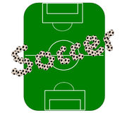 Football pitch (vector). Illustration of a football pitch stock illustration