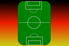 Football pitch (vector) Royalty Free Stock Photography
