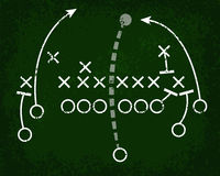 Football Play Chalkboard Stock Photo