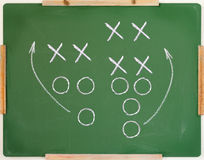 Football play diagram Stock Images